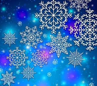 Обои на телефон снег, рождество, абстрактные, snow flakes, abstract christmas