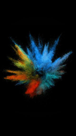 Обои на телефон взрыв, брызги, цветные, синие, абстрактные