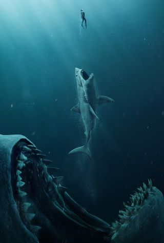 Обои на телефон акула, фильмы, океан, megalodon, hd