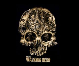 Обои на телефон мертвый, череп, зомби