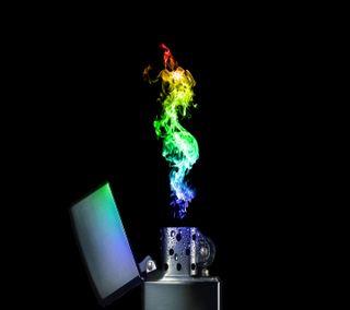 Обои на телефон огонь, абстрактные, abstract fire, 1440x1280