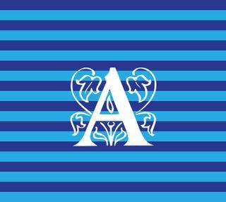 Обои на телефон полосы, дизайн, буквы, nautical a, initials