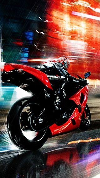 Обои на телефон гоночные, мотоциклы, город
