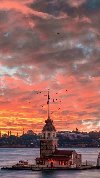 Обои на телефон история, турецкие, стамбул, ислам, великий, башня, turks, turkic, maidens tower-turkey, byzantium