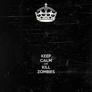 Обои на телефон спокойствие, зомби, будущее, абстрактные, sf, kill, keep calm