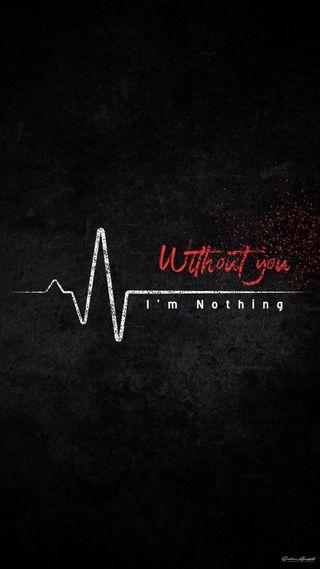 Обои на телефон сильный, я, ты, стук сердца, сердце, ничего, мир, without you, i am nothing