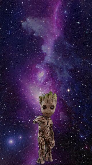 Обои на телефон грут, фиолетовые, супер, космос, галактика, yo soy groot, superheroe, i am groot, guardianes de la galaxia, cine
