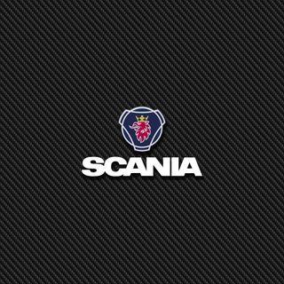 Обои на телефон значок, эмблемы, карбон, scania carbon 2, scania