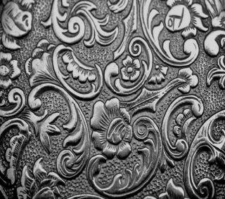 Обои на телефон metallic structure, metallic texture, шаблон, текстуры, цветочные, металлические