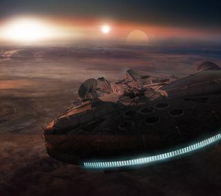 Обои на телефон корабли, фильмы, фильм, сокол, звезда, войны, star wars, millennium falcon, lucas