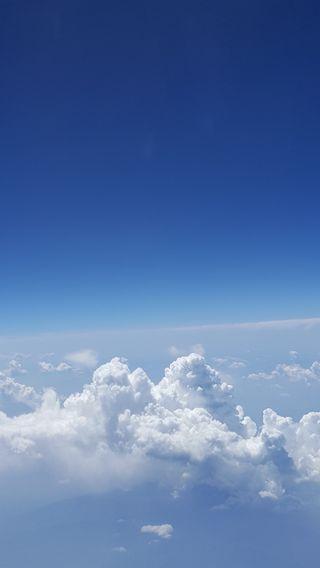 Обои на телефон горизонт, синие, облака, небо, земля