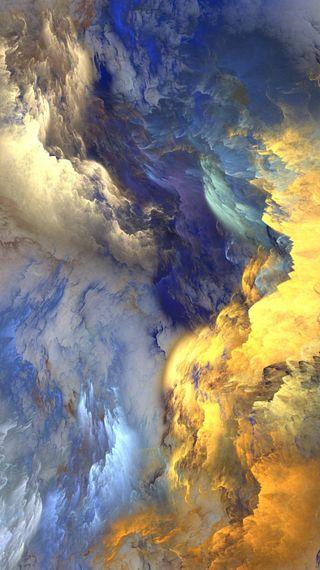 Обои на телефон облака, новый, красочные, абстрактные