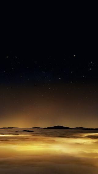 Обои на телефон красота, ночь, небо, золотые, звезды