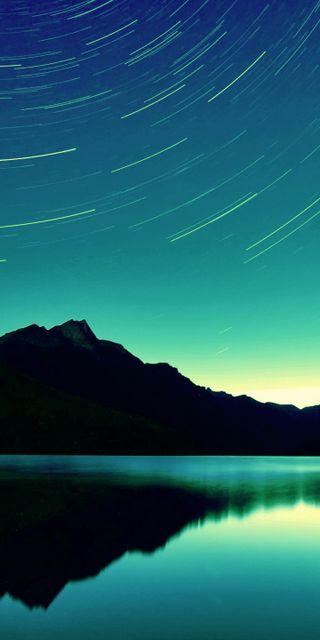 Обои на телефон цвет морской волны, пейзаж, отражение, горы