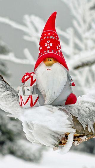 Обои на телефон позитивные, снеговик, снег, подарки, маленький, зима, думать, think positive, little snowman, dwarf