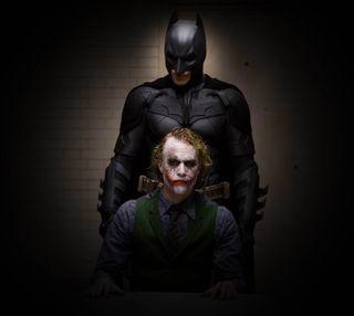 Обои на телефон рыцарь, темные, джокер, бэтмен, batman and joker