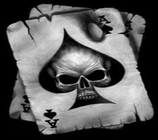 Обои на телефон туз, череп, ace and skull, ace and