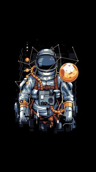 Обои на телефон тема, темные, простые, минимализм, космос, космонавт, амолед, абстрактные, qhd, amoled astronaut, 929