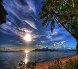 Обои на телефон замечательный, приятные, пляж, взгляд, wonderful beach