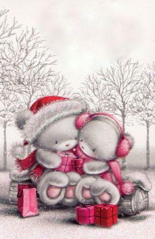 Обои на телефон каникулы, счастливое, рождество