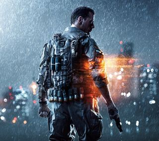 Обои на телефон солдат, игры, дождь, видео, армия, hd, battlefield 4, battlefield