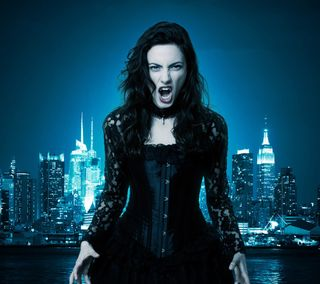 Обои на телефон вампиры, темные, страшные, ночь, девушки, город