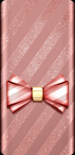 Обои на телефон лук, элегантные, симпатичные, прекрасные, полосы, персик, золотые, девчачие, блестящие, peach bow