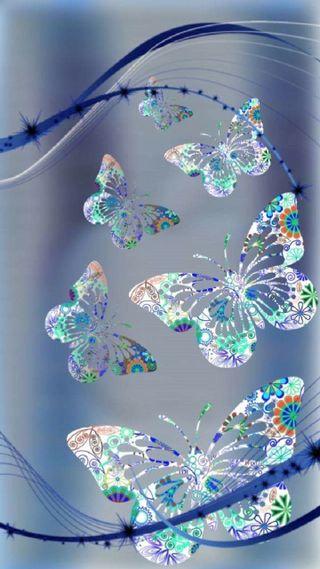 Обои на телефон цветочные, цветы, бабочки
