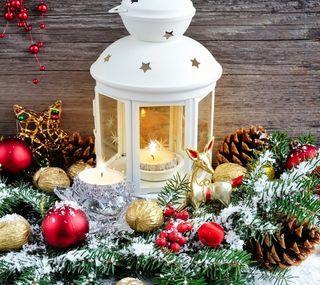 Обои на телефон украшение, счастливое, снег, рождество, лампа, decoration christmas