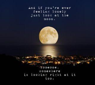 Обои на телефон тьма, цитата, светящиеся, одинокий, ночь, море, луна, вода, company