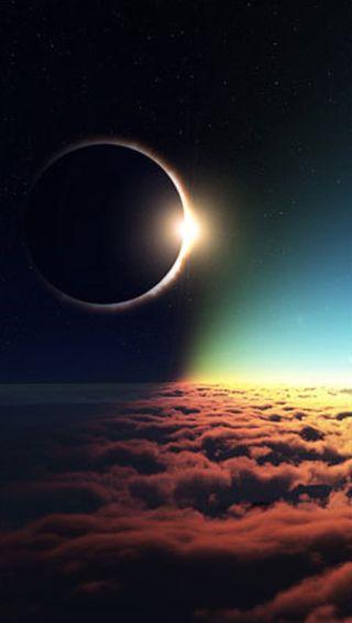 Обои на телефон солнечный, солнце, природа, луна, затмение, solar eclipse