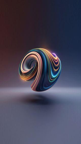 Обои на телефон miui, абстрактные, синие, красочные, цветные, радуга, спираль