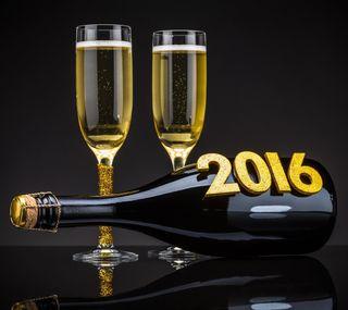 Обои на телефон шампанское, год, счастливые, новый, happy, 2016 champagne