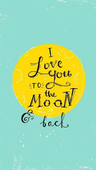Обои на телефон любовь, луна, to the moon and back, love