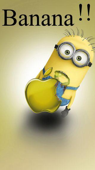 Обои на телефон я, желтые, эпл, фильмы, миньоны, логотипы, зло, забавные, гадкий, банан, zain, banana minion, apple