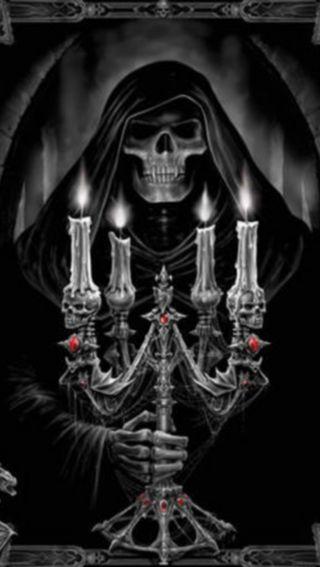 Обои на телефон череп, хэллоуин, темные, смерть, призрак, ночь, ghost