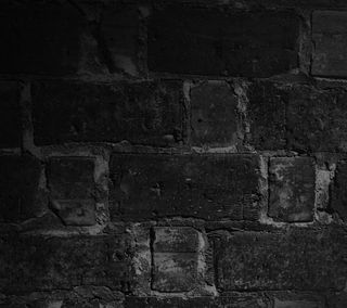 Обои на телефон кирпичи, черные, стена, black01
