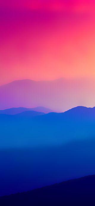 Обои на телефон восход, горы, амолед, hd, amoled mountains