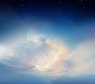 Обои на телефон стандартные, синие, самсунг, природа, облака, красота, галактика, samsung, note8, galaxy note 8 wallpaper, galaxy note 8