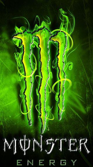 Обои на телефон логотипы, monster