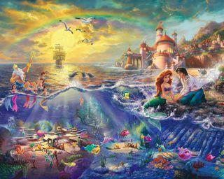 Обои на телефон disney, love, the little mermaid, любовь, мультфильмы, дисней, картина, анимация, маленький, русалка