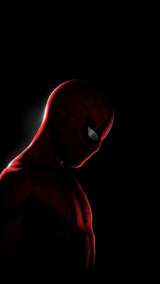 Обои на телефон человек паук, черные, темные, марвел, spiderman dark