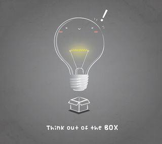 Обои на телефон думать, коробка, out of box