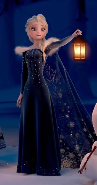 Обои на телефон эльза, принцесса, холодное, синие, рождество, милые, лампа, дисней, elsa in christmas, disney, cute elsa, blue gown
