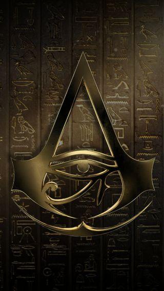 Обои на телефон оригинальные, логотипы, ассасин, assassins origins, assassin origins, assassin logo