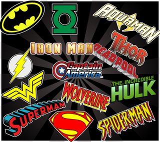 Обои на телефон росомаха, человек паук, халк, супермен, супер, логотипы, герой, бэтмен, super hero logos, captainamerica