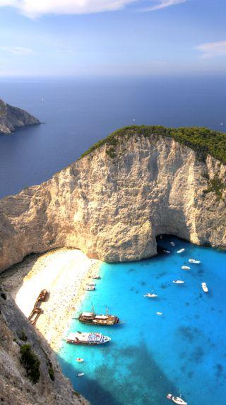 Обои на телефон греция, пляж, море, navagio beach