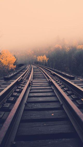 Обои на телефон природа, поезда, крутые, коричневые, дорога