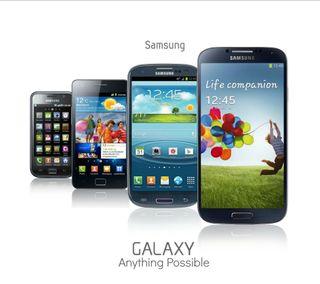 Обои на телефон ряд, самсунг, sseries, samsung, s series