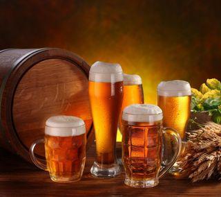 Обои на телефон пшеница, пиво, дерево, brew, barrel